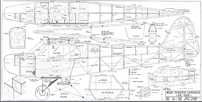 PLANS FOR BUD Nosen 1/4 Scale Piper Cub, 9 Foot Giant Scale RC AIrplane