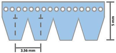 ConCar Keilrippenriemen 3 PK 755 mm 297 K DIN 7867 Poly-V Riemen Keilriemen