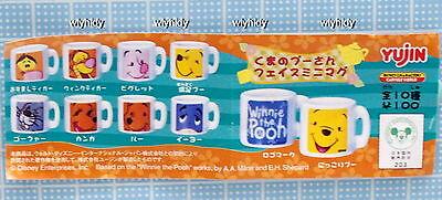 10pcs Yujin   ^/_^ Miniatures  Disney Winnie The Pooh /& Fans Mini Ceramic Cup