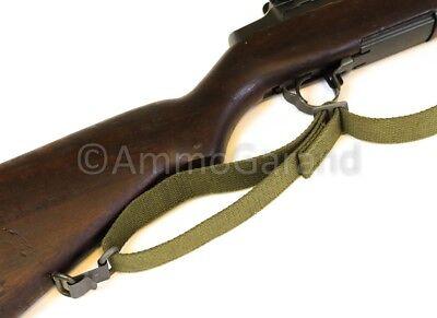 M1 Garand Sling OD Green Cotton Web for USGI 1903 Mil Civ WWII Korea *US Made* 7
