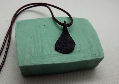Rare Perfect Ancient IRON Pendant AXE Amulet Suspension Viking 9-11 A.D #407 2