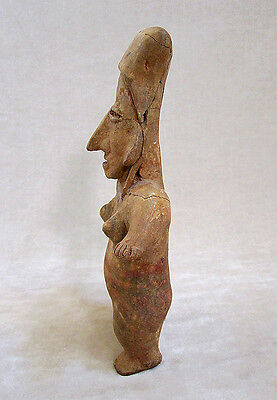 Pre-Columbian JALISCO STANDING FEMALE FIGURE, ca. 300 BC - AD 300 2