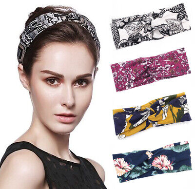 Women Girl Soft Turban Twist Headband Head Wrap Twisted Knotted Knot Hair Band 2