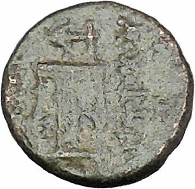 ANTIOCHOS II Theos 261BC Apollo Kithara Lyre Authentic Ancient Greek Coin i47152 2