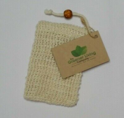 Eco Friendly Natural Sisal Wash Soap Bag Exfoliate Reusable Plastic-Free Shower 4