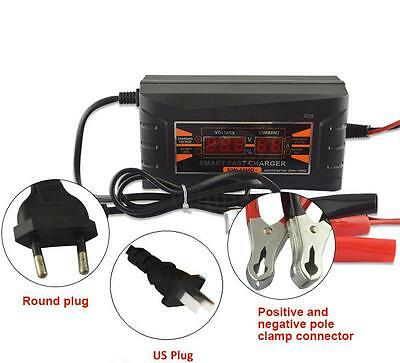 Best 12v 10a Smart Car Motorcycle Battery Charger Lcd Display Us Eu