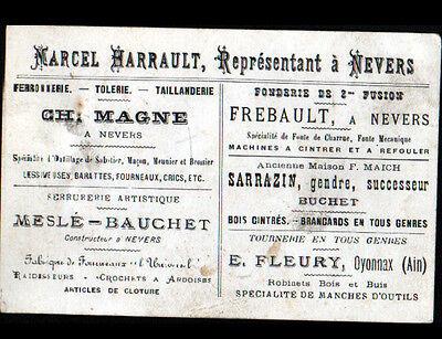 1 Sur 2 NEVERS 58 FERRONNERIE TOLERIE TAILLANDERIE Marcel HARRAULT Carte De Visite