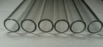 "4"" Glass Pyrex Blowing 5 Tubes 10mm OD 8mm ID Tubing 1mm Wall COE 33 2"