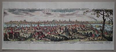 Istanbul - Constantinopolis -  Merian 1641 - Large panorama of Constantinople