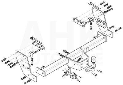 Für Fiat Fullback 4WD Doppelkabine ab 15 Anhängerkupplung starr+ES 7p uni AHK