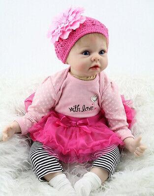 55cm 22'' Bambole Reborn Realistico Silicone Reborn Girl Doll Bambino Toys Gifts 4