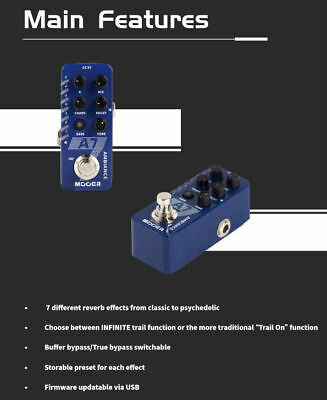 Mooer A7 Ambience Reverb Guitar Pedal New release 4
