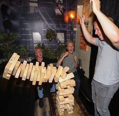 Giant Jenjo Wooden Tumbling Tower Game 63cm 5