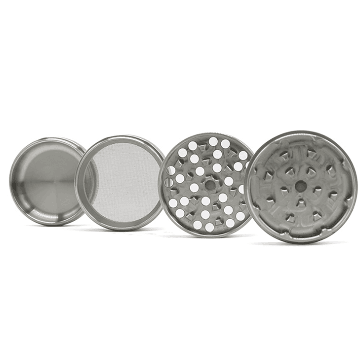 Tobacco Herb Grinder Spice Herbal 4 Piece Metal Chromium Alloy Smoke Crusher 3