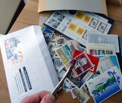 Große Briefmarken-Wunderkiste BRD hunderte Marken aus Flohmarkt-Nachlass