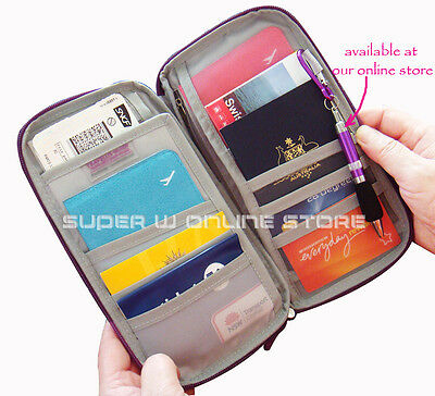 Travel Wallet Ticket Holder with RFID Blocking Covers for Passport Credit Cards 8