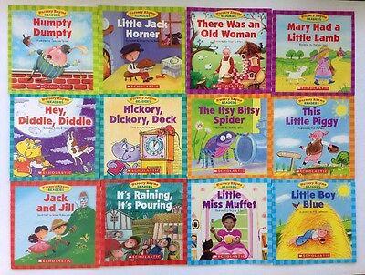 Nursery Rhyme Childrens Books Beginning Readers Lot 12 10