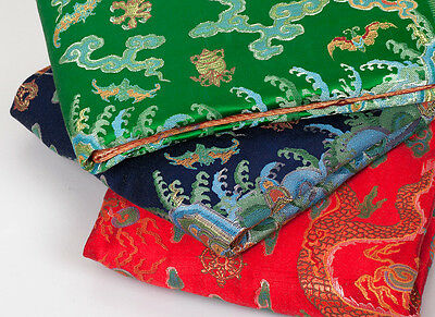 "100"" Tapestry Style Silk Damask Jacquard Brocade China Dragon Robe Fabric -"