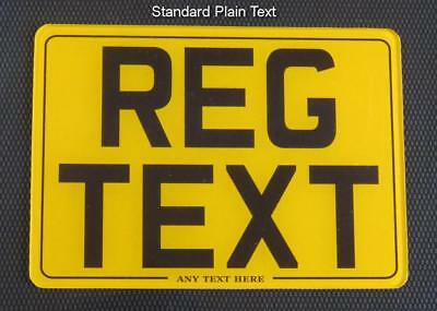 7x5 MOTORCYCLE BIKE SHOW STYLE SMALL NUMBER PLATE/SIGN 2