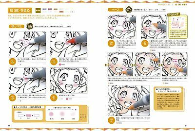 How to Draw Manga Anime COPIC Official Beginer Technique art Book Japan