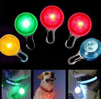 LED Fascinating Pet Dog Cat Puppy Flashing Collar Safety Night Light Pendant /lc 2