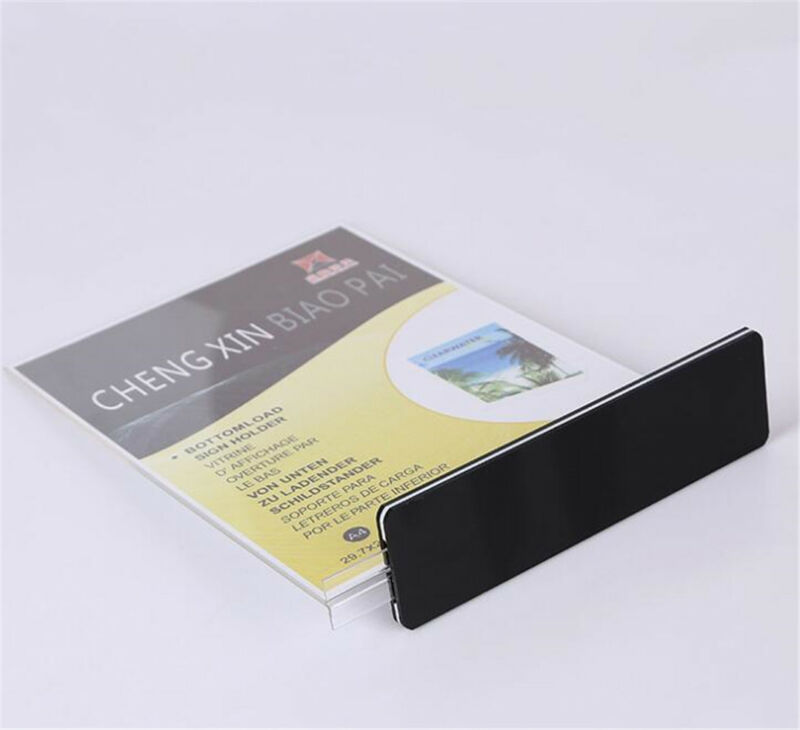 10pcs DL A4 Double Sided Sign Holder Acrylic Retail Display Stands Menu Holder 5