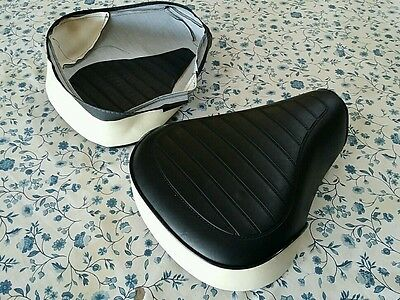 HONDA NC50 EXPRESS50 1977 TO 1981  SEAT COVER  BLACK /& WHITE NO LOGO H139--n6