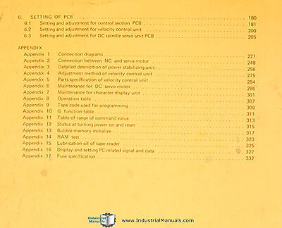 1981 CNC System Control B-52245E-03 Fanuc 6T Model B Maintenance Manual Year