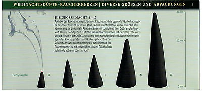 Crottendorfer Räucherkerzen /'Erdbeer-Vanille/' Flower/&Fruits Gr M 20 Kegel//Pkg