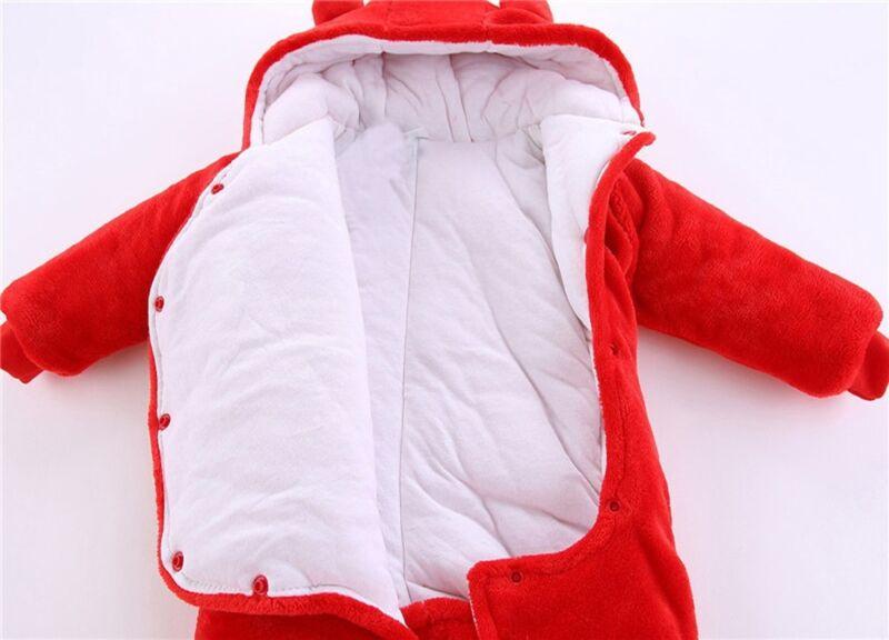 Gb Recién Nacido Bebé de Niña Pelele Terciopelo Traje con Capucha Body Ropa 9