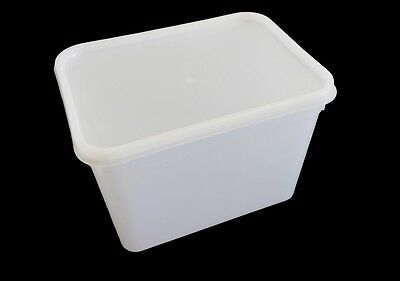 Food storage containers 4 Litre Rectangular Ice Cream tubs