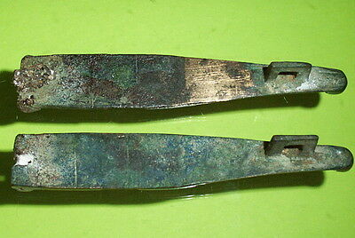 Authentic ANCIENT ROMAN BOX FITTINGS coin treasure chest hinges old bible rare 2