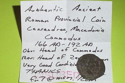 RARE Ancient ROMAN COIN zeus ammon COMMODUS 166-192 AD CASSANDREA MACEDONIA old 3