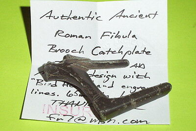 MASSIVE Ancient ROMAN BROOCH CATCHPLATE 200 BC huge fibula old artifact antique 5