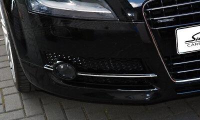 AUDI TT Typ 8J  2006-2010  Chrom Zierleisten für Kühlergrill unten außen 3M