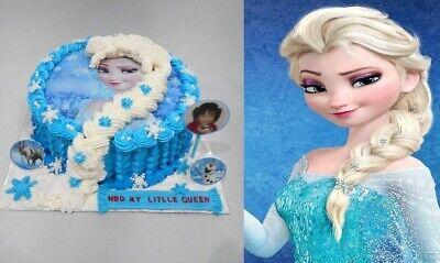 Frozen Elsa Eiskönigin Eßbar Tortenbild Tortenaufleger Party Deko Geburtstag neu 7