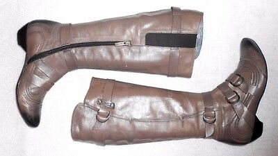 Zippées P ½ Bocage Bottes Plates Cuir Taupe Tbe 3837 thBQsxrdC