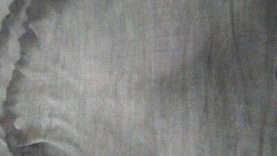 Italian Leather Lambskin hide skin Thin shiny Black Lava double face 4 Sq.Ft.