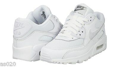 d567edeea41f6 ... Nike Air Max 90 Mesh GS Junior Kids Girls Boys Trainers Shoes - White 3  to
