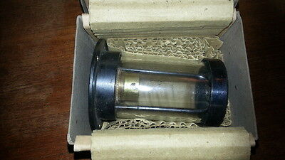 Heavy MOD Brass Cylinder Light Lamp Industrial Warehouse Steampunk Glass Boxed 3