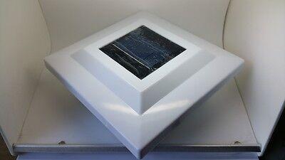 Solar White Cap Light With Bright White 2-SMD LED For PVC Vinyl Post PL253