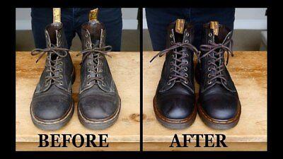 Dr. Martens Shoe Care Kit, Black + Brown Laces, Cloth, Wonder Balsam & Dubbin 4