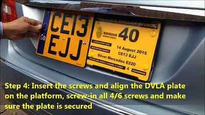 Twin Plate Holder Platform Private Hire,Chauffeur Cars for Taxi Permanent Fix