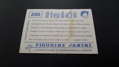 HEIDI 1978 Panini SCEGLI *** figurina con velina *** dal numero 1 al numero 200 7