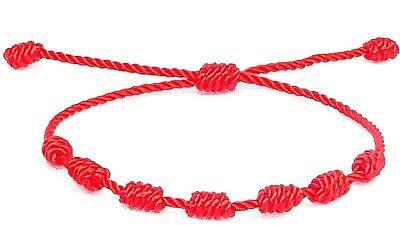 Pulsera roja de 7 nudos de la suerte para hombre o mujer de hilo bracelets 2