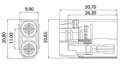 XT90S Anti Blitz Stecker + Buchse, 1-5 Paar LiPo Hochstrom Goldstecker, 4,5mm 7