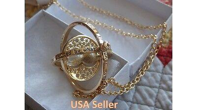 US Seller - NEW Harry Potter Time Turner Hermione Granger Rotating Necklace F/S 2