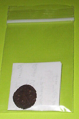 Ancient ROMAN COIN soldiers CONSTANS 333 AD spear shield military tool old VG ae 4