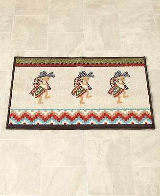 Kokopelli Southwestern Shower Curtain Hooks Rug Aztec Santa Fe Accessory Set 4
