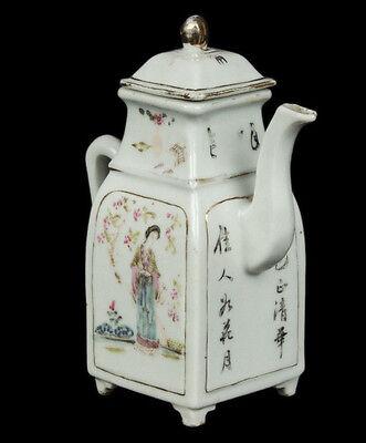 China 19. Siglo Tongzhi Tetera -a Chino Famille Rosa Tetera - Chinois Cinese 6